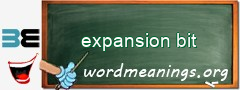 WordMeaning blackboard for expansion bit